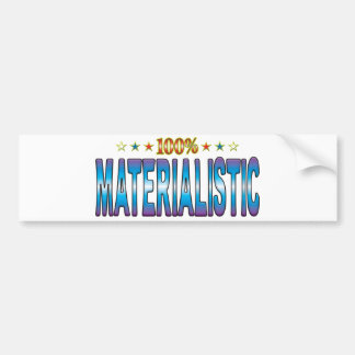 Etiqueta materialista v2 de la estrella pegatina de parachoque