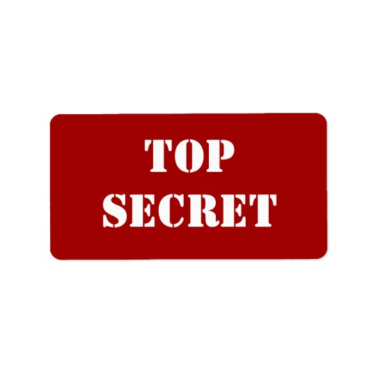 Etiqueta Máximo secreto rojo de la plantilla