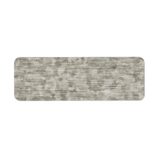 Etiqueta Metal anodizado enturbiado texturizado