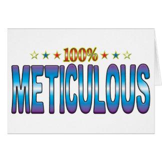 Etiqueta meticulosa v2 de la estrella tarjetón