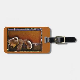 Etiqueta mimosa del equipaje del oso