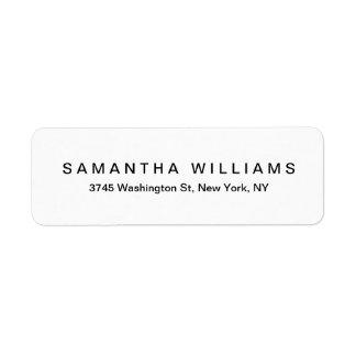 Etiqueta Minimalist blanco negro moderno elegante simple