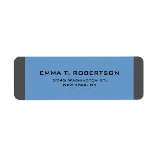 Etiqueta Minimalist de moda moderno elegante del gris azul