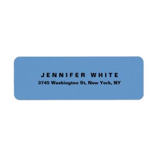 Etiqueta Minimalist moderno elegante llano del gris azul