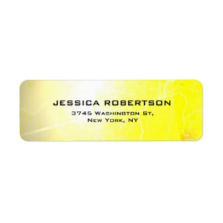 Etiqueta Minimalist moderno elegante llano legible amarillo