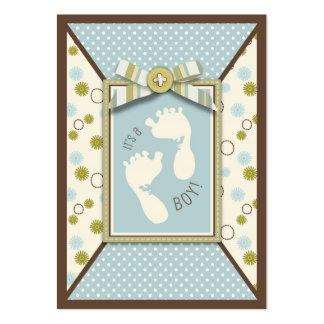 Etiqueta minúscula del regalo de los dedos del pie tarjetas de visita grandes