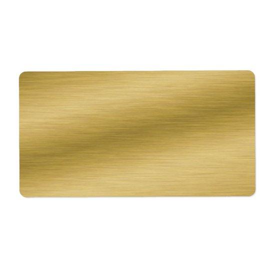 Etiqueta Mirada cepillada elegante del oro
