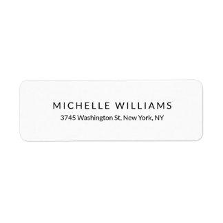 Etiqueta Moda minimalista blanca negra moderna elegante