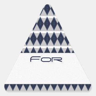 Etiqueta modelada diamante azul de medianoche del