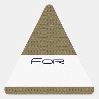 etiqueta modelada diamante de oro del regalo del T