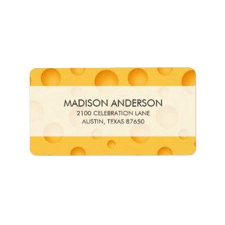 Etiqueta Modelo amarillo del queso