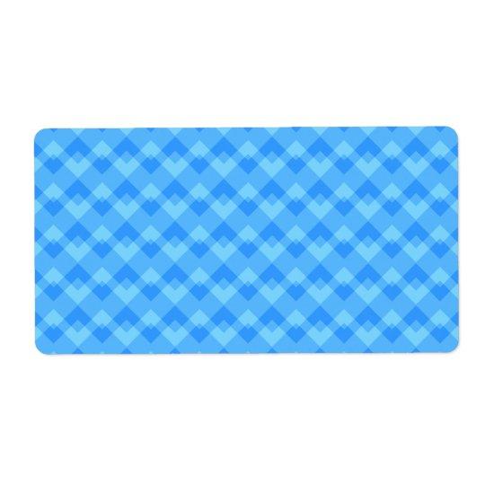 Etiqueta Modelo azul moderno