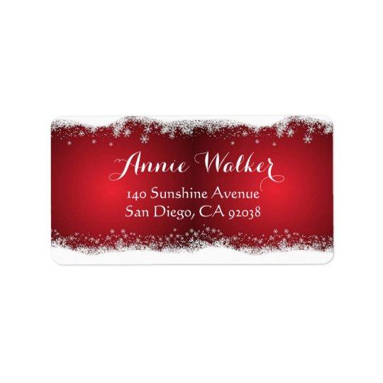 Etiqueta Modelo del navidad rojo y blanco