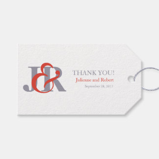 Etiqueta moderna del favor del boda del monograma etiquetas para regalos