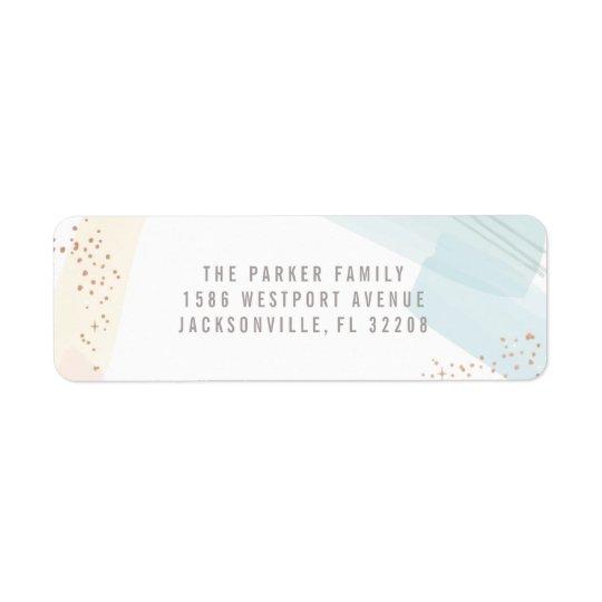 Etiqueta moderna del remite de la alegría etiquetas de remite