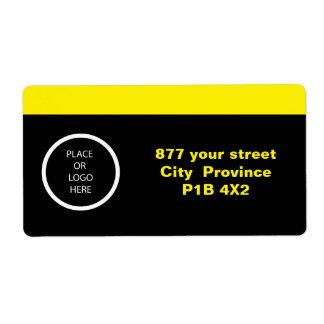 Etiqueta moderna profesional del amarillo el | etiquetas de envío
