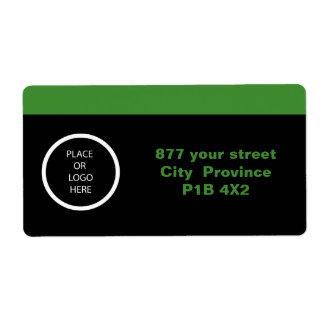 Etiqueta moderna profesional del verde el   etiquetas de envío