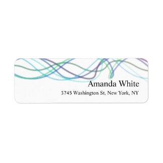 Etiqueta Moderno abstracto minimalista elegante blanco azul