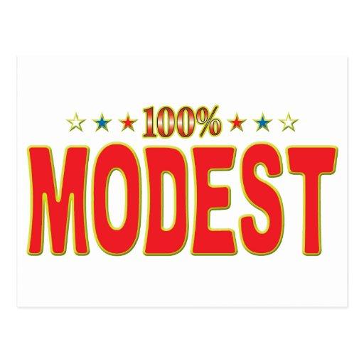 Etiqueta modesta de la estrella postales