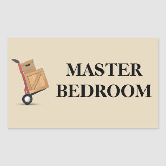 Etiqueta móvil de la caja - dormitorio principal