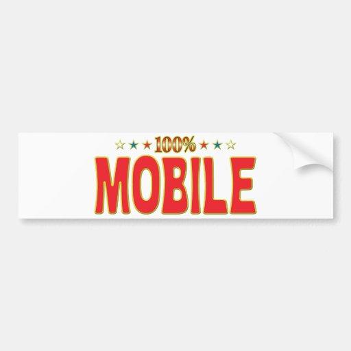 Etiqueta móvil de la estrella pegatina de parachoque
