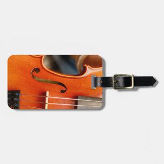 Etiqueta musical de la caja o del equipaje del
