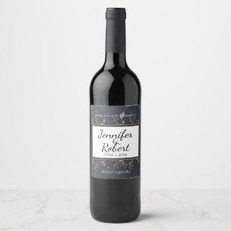 Etiqueta natural del vino de la maravilla de la