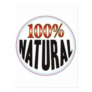Etiqueta natural tarjeta postal