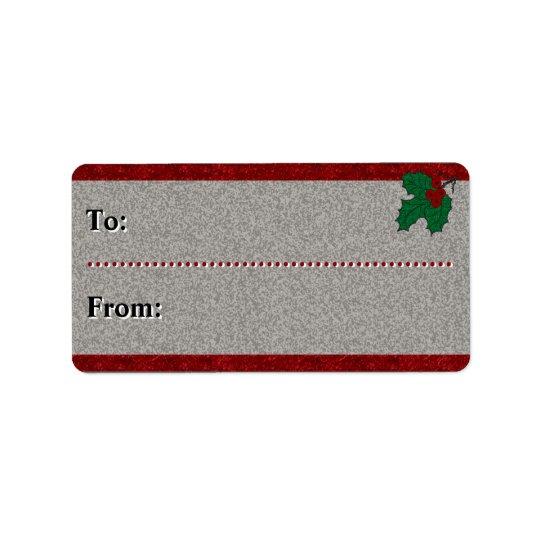 Etiqueta Navidad de los años 40 - A-De - personalizado