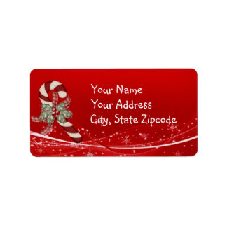 Etiqueta Navidad del bastón de caramelo