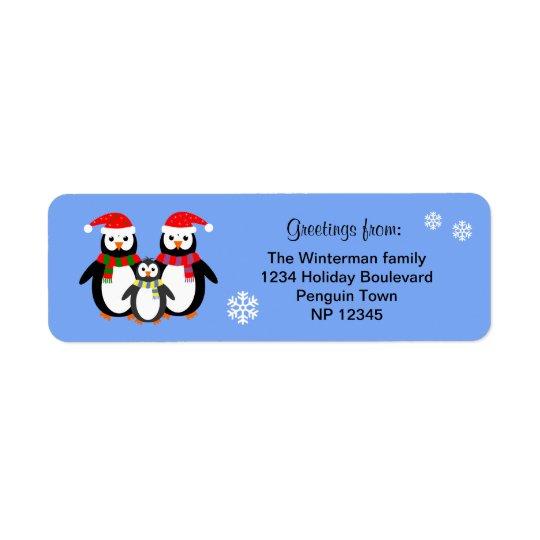 Etiqueta Navidad editable del azul del texto de la familia