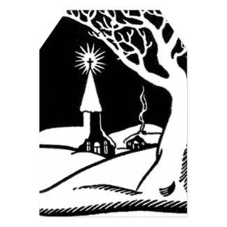 Etiqueta negra/blanca del vintage del invierno de invitación 12,7 x 17,8 cm