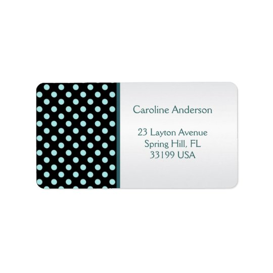 Etiqueta negra y verde azulada de Avery de la Etiquetas De Dirección