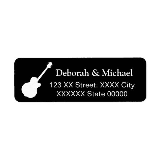 Etiqueta negro de los pares de la roca del guitarrista