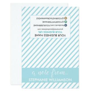 ETIQUETA Notecards personalizado estilista (azul Invitación 8,9 X 12,7 Cm