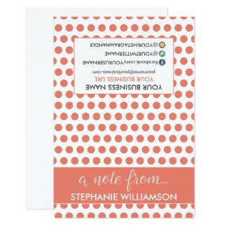 ETIQUETA Notecards personalizado estilista (coral) Invitación 8,9 X 12,7 Cm