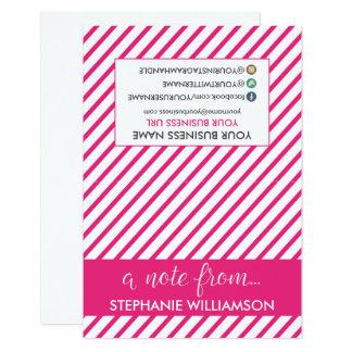 ETIQUETA Notecards personalizado estilista Invitación 8,9 X 12,7 Cm