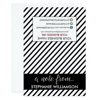 ETIQUETA Notecards personalizado estilista (negro) Invitación 8,9 X 12,7 Cm