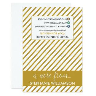 ETIQUETA Notecards personalizado estilista (oro) Invitación 8,9 X 12,7 Cm