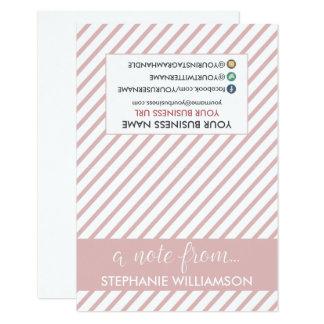 ETIQUETA Notecards personalizado estilista (pink) Invitación 8,9 X 12,7 Cm