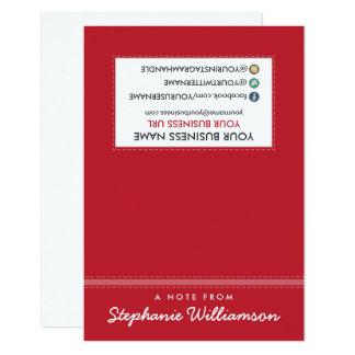 ETIQUETA Notecards personalizado estilista (rojo) Invitación 8,9 X 12,7 Cm