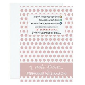 ETIQUETA Notecards personalizado estilista (rosa Invitación 8,9 X 12,7 Cm