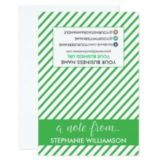ETIQUETA Notecards personalizado estilista (verde) Invitación 8,9 X 12,7 Cm