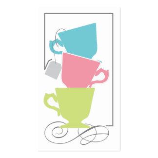 Etiqueta nupcial del favor de la ducha - té tarjetas de visita
