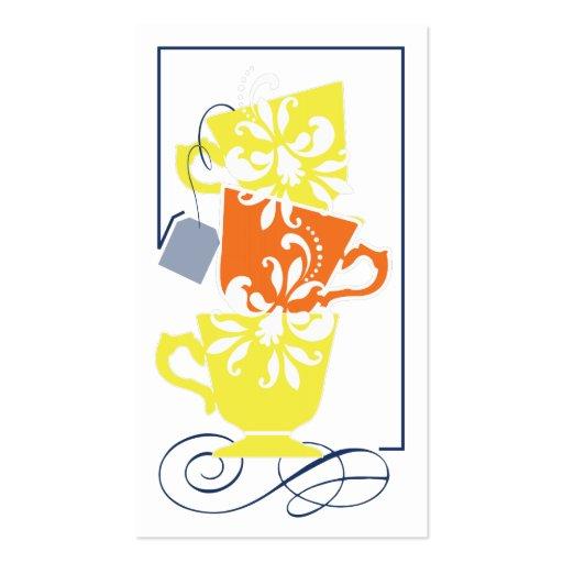Etiqueta nupcial del favor de la ducha - té tarjeta de negocio