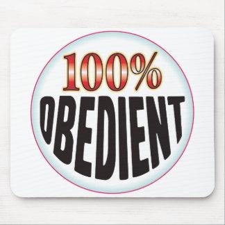 Etiqueta obediente tapete de ratón