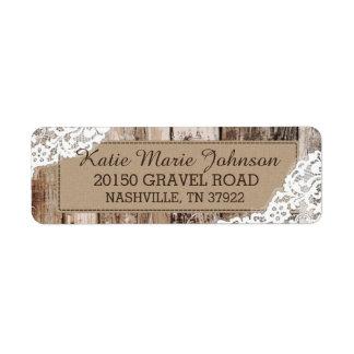 Etiqueta occidental rústica de madera y del boda