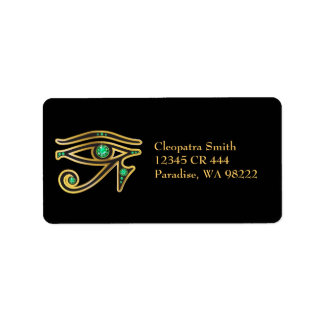 Etiqueta Ojo de la Falso-Esmeralda del Ra en oro