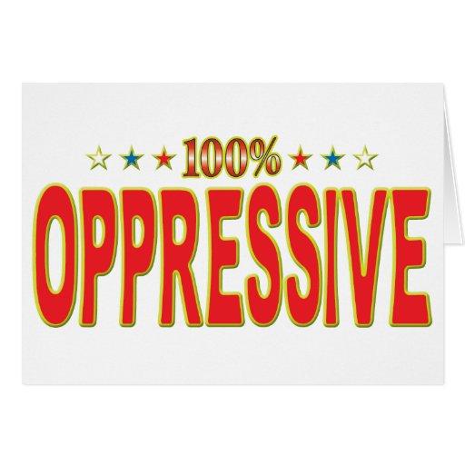 Etiqueta opresiva de la estrella felicitación