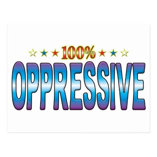 Etiqueta opresiva v2 de la estrella postal